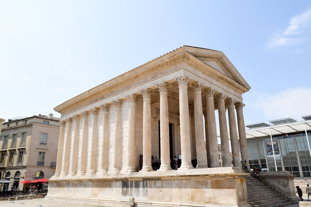 Roman Ruins in France: Maison Carrée, Nîmes