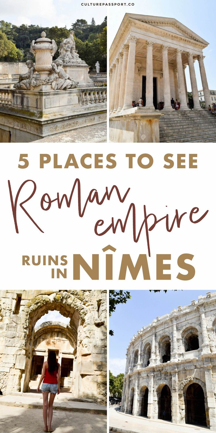 Places To See Roman Empire Ruins in Nimes France #travelfrance