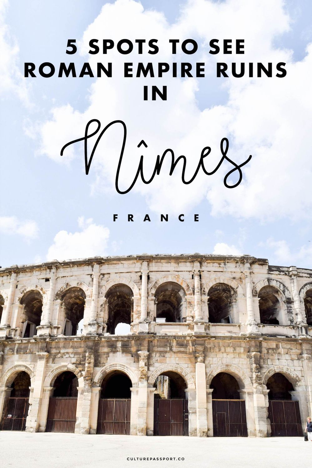 Roman Empire Ruins in Nîmes France #travelfrance
