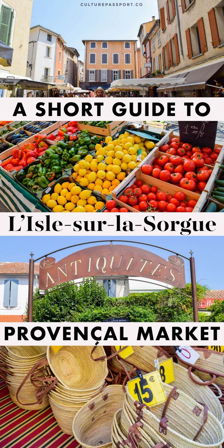 Short Guide To L'Isle Sur La Sorgue Market