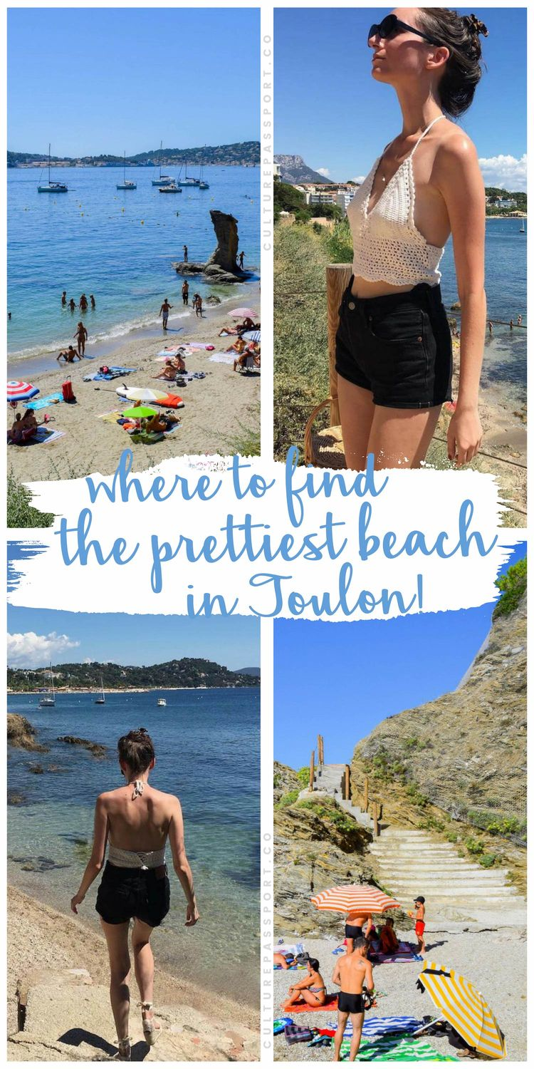 Where To Find The Prettiest Beach In Toulon, France! #france #toulon #beaches #beachtravel
