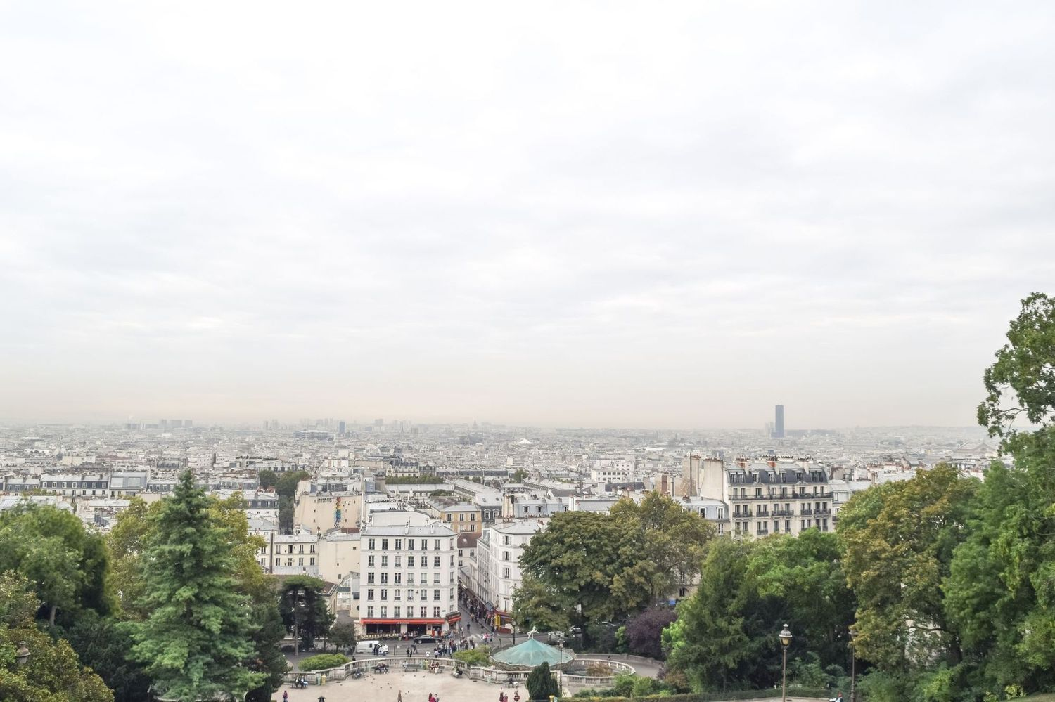 View from Sacre Coeur in Montmartre, Paris