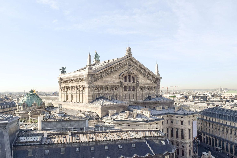 Galeries Lafayette Paris Rooftop view of Palais Garnier