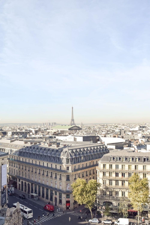 Galeries Lafayette Rooftop View of Eiffel Tower, Best Views in Paris!