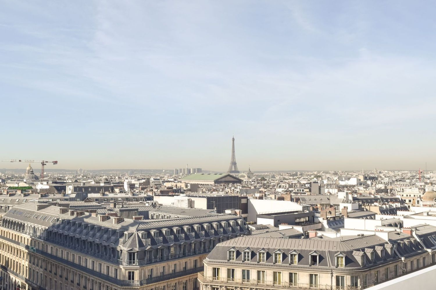 Galeries Lafayette Rooftop View of Eiffel Tower, One of the best views in Paris!