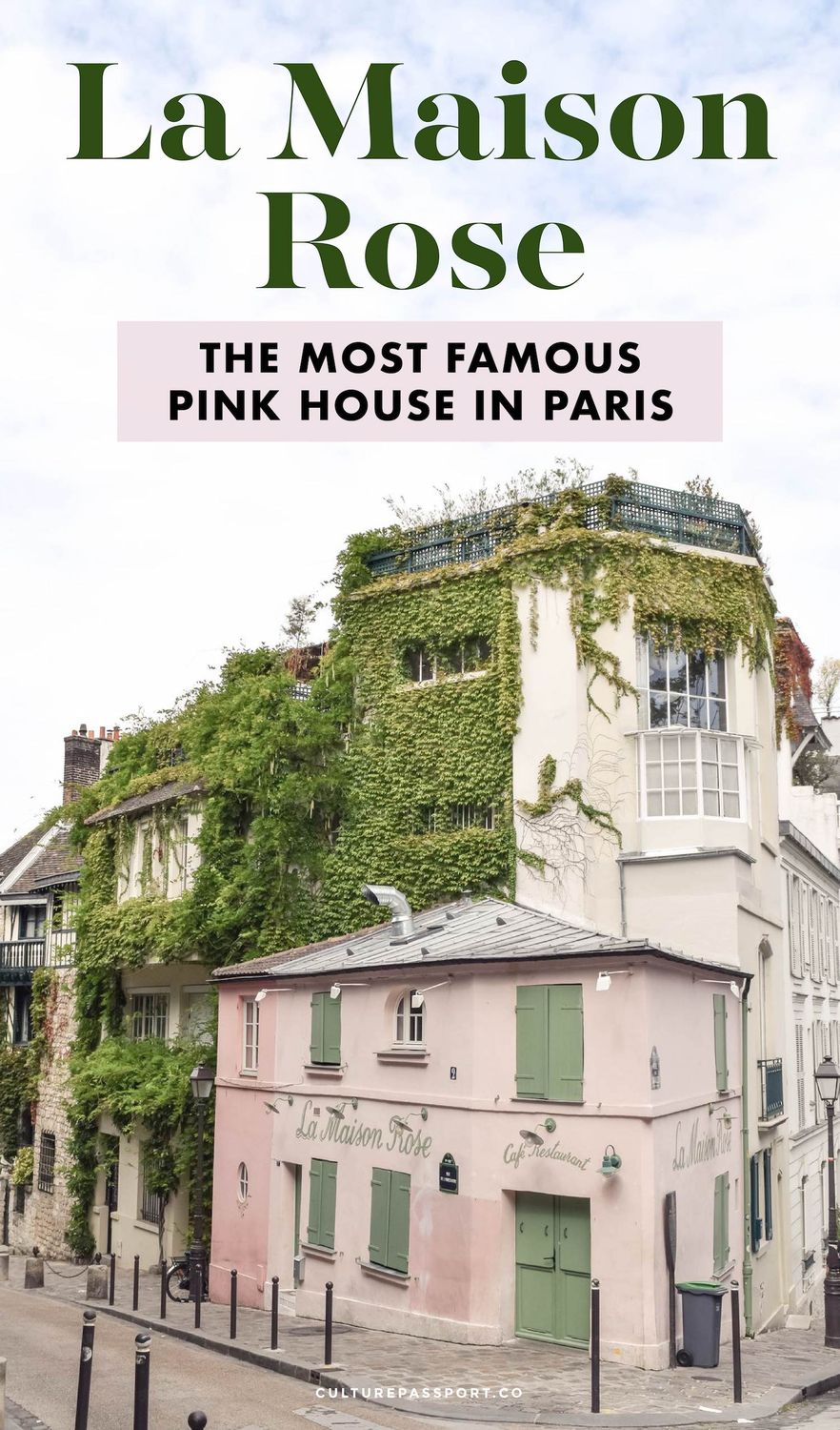 La Maison Rose -  The Famous Pink House In Paris