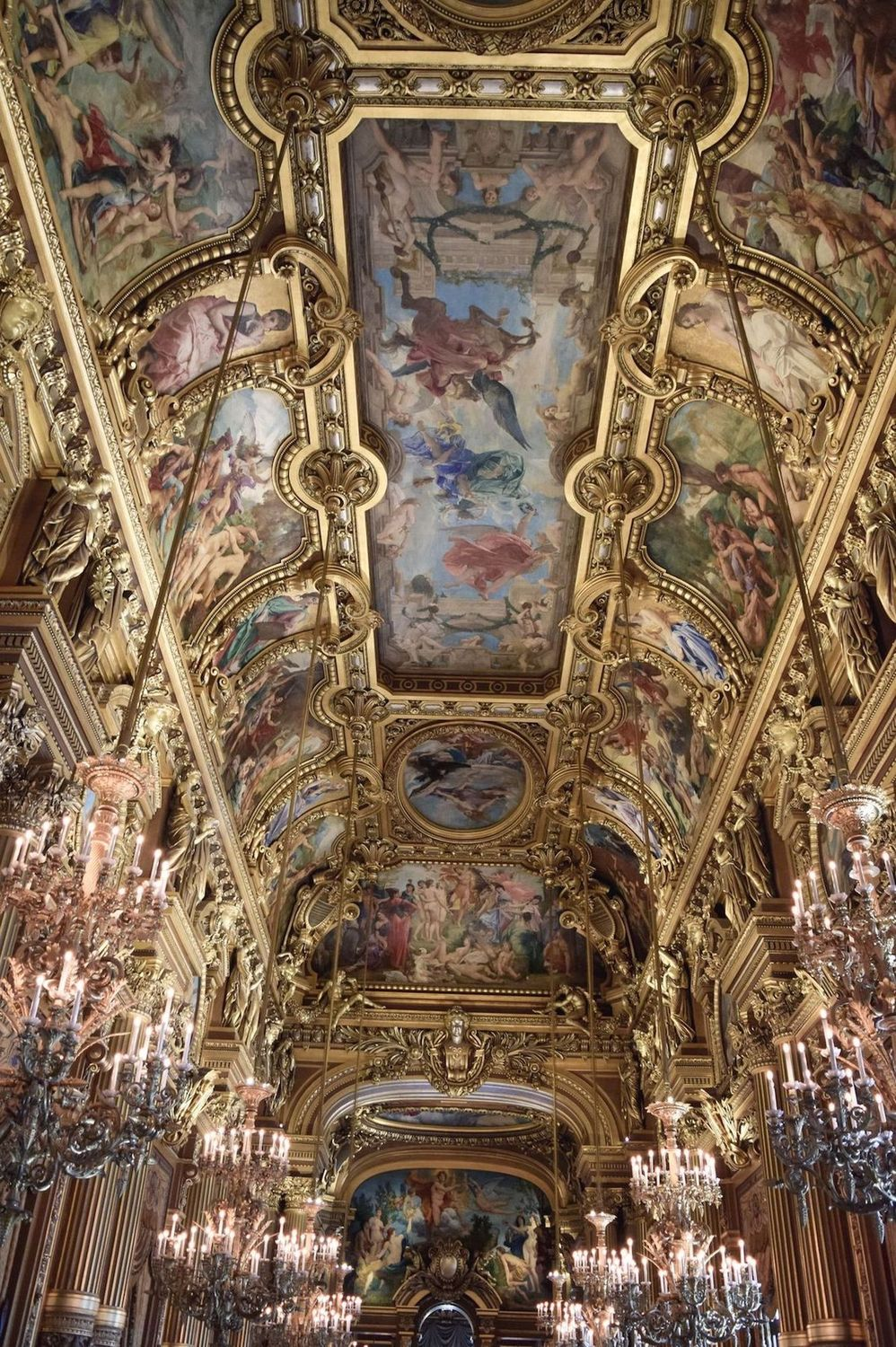 Grand Foyer with paintings by Paul Baudry in Palais Garnier Paris