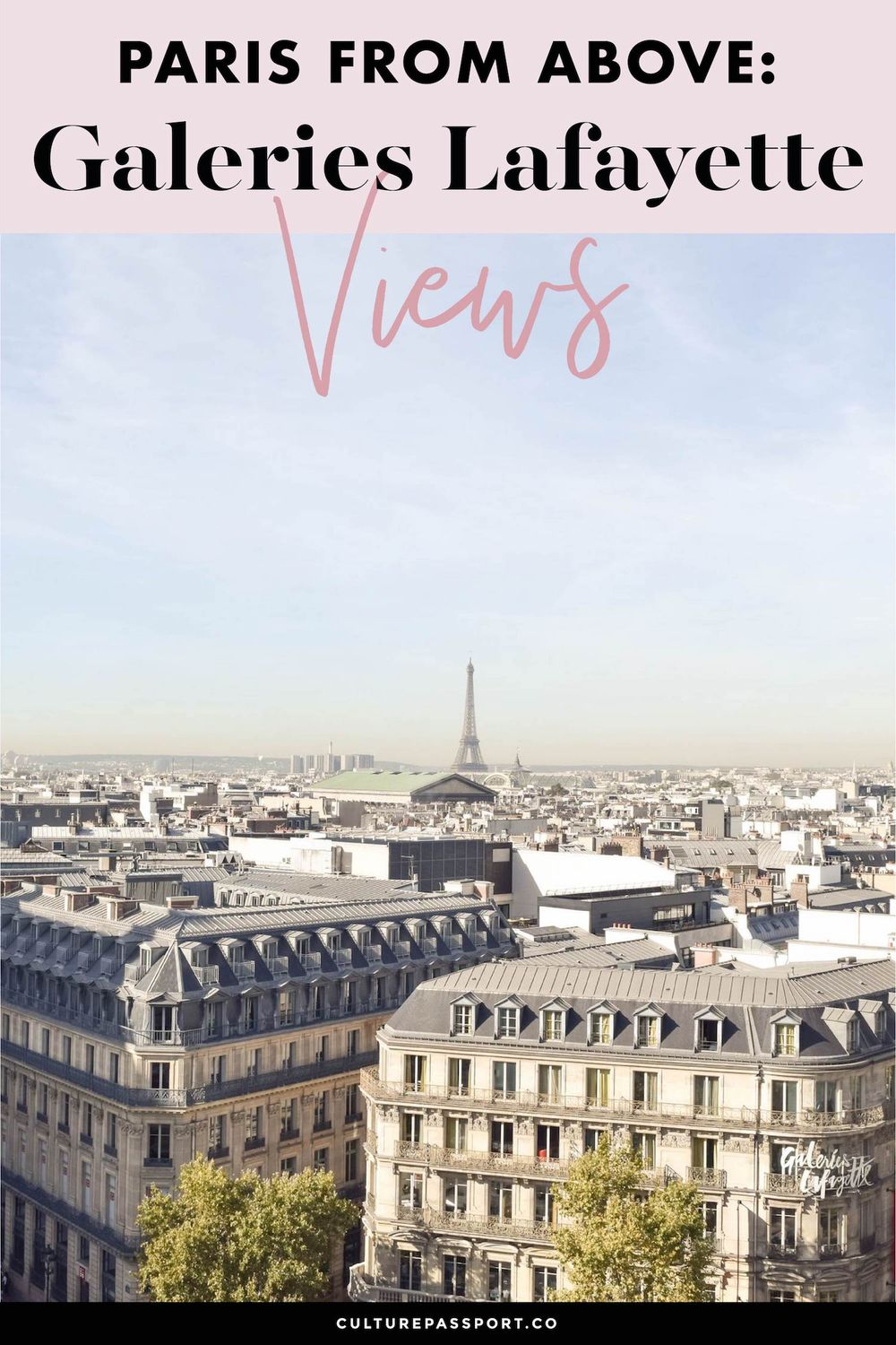Paris From Above Galeries Lafayette Views