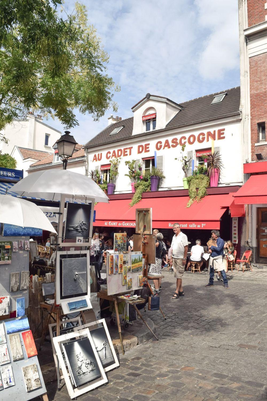 What to do in Montmartre –Place Du Tertre, Paris