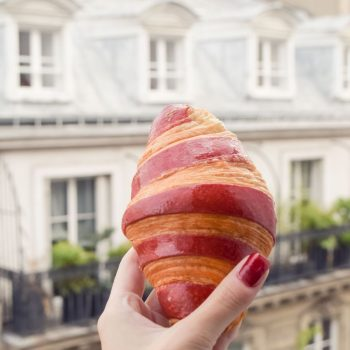 Croissant A La Framboise - Best French Pastries to Try in Paris