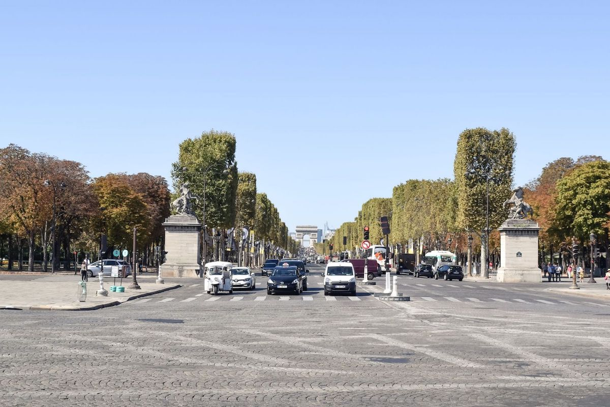 View of L'arc de Triomphe from Place De La Concorde, Paris
