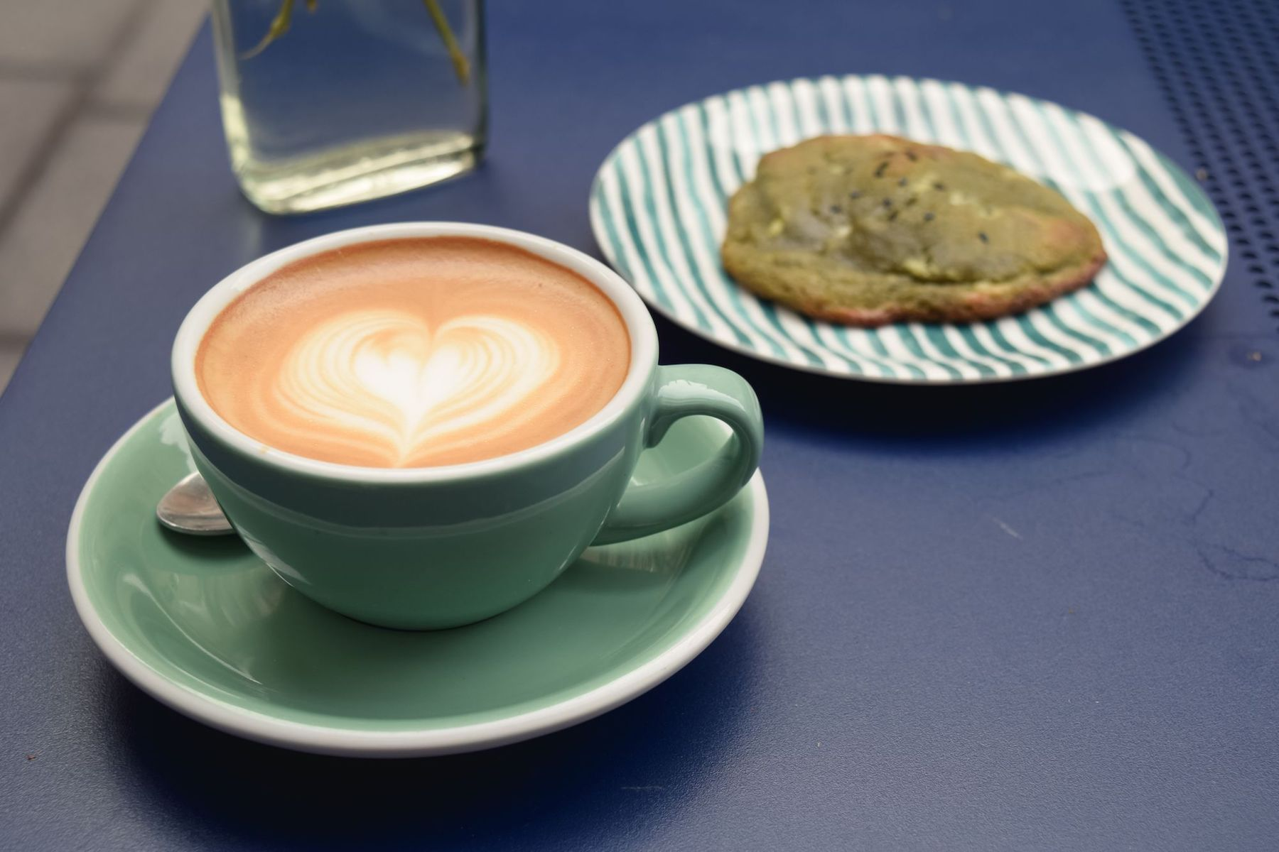Specialty Coffee and Matcha White Chocolate Cookie at 5 Pailles Coffee, Paris
