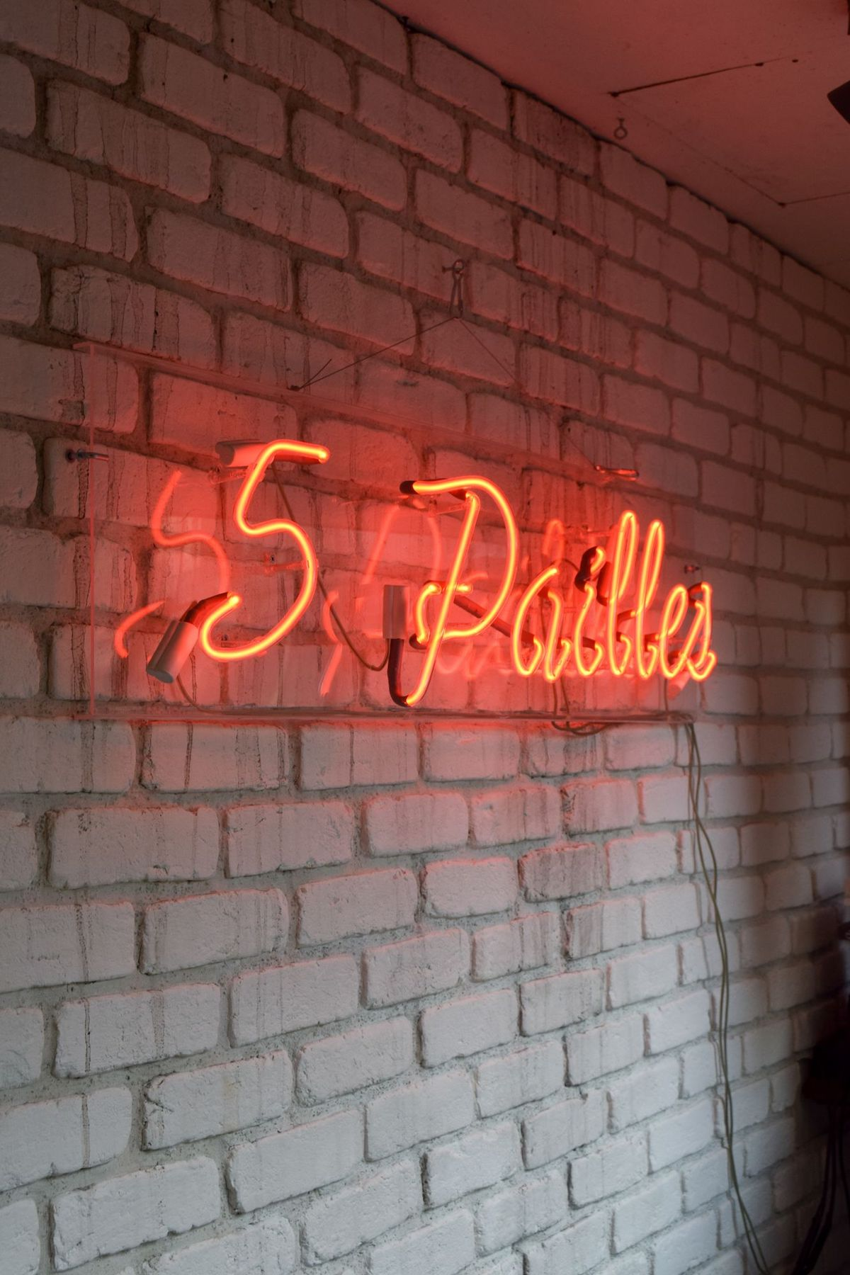 5 Pailles Coffee Neon Sign, Paris