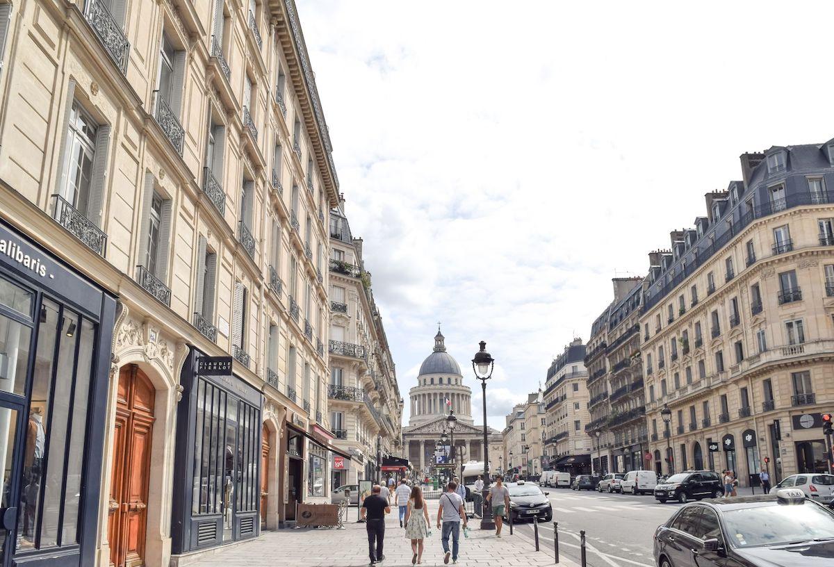 View of Pantheon from Rue Soufflot