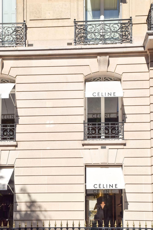 Celine Store On Avenue Montaigne, Paris