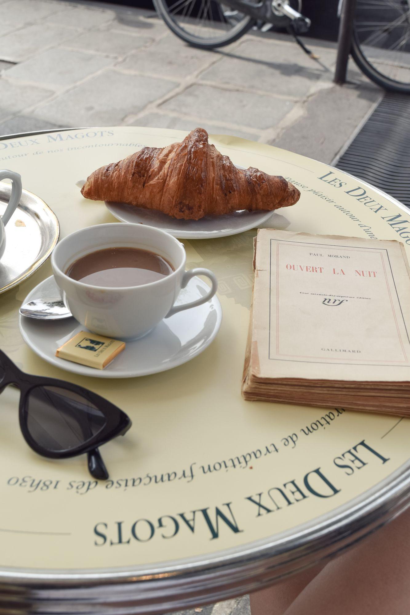 Coffee and Reading at Les Deux Magots, Paris