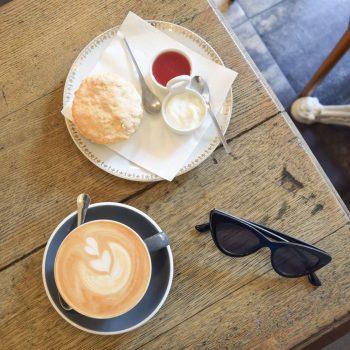Specialty Coffee and Scone at Numero 220 Café, Paris