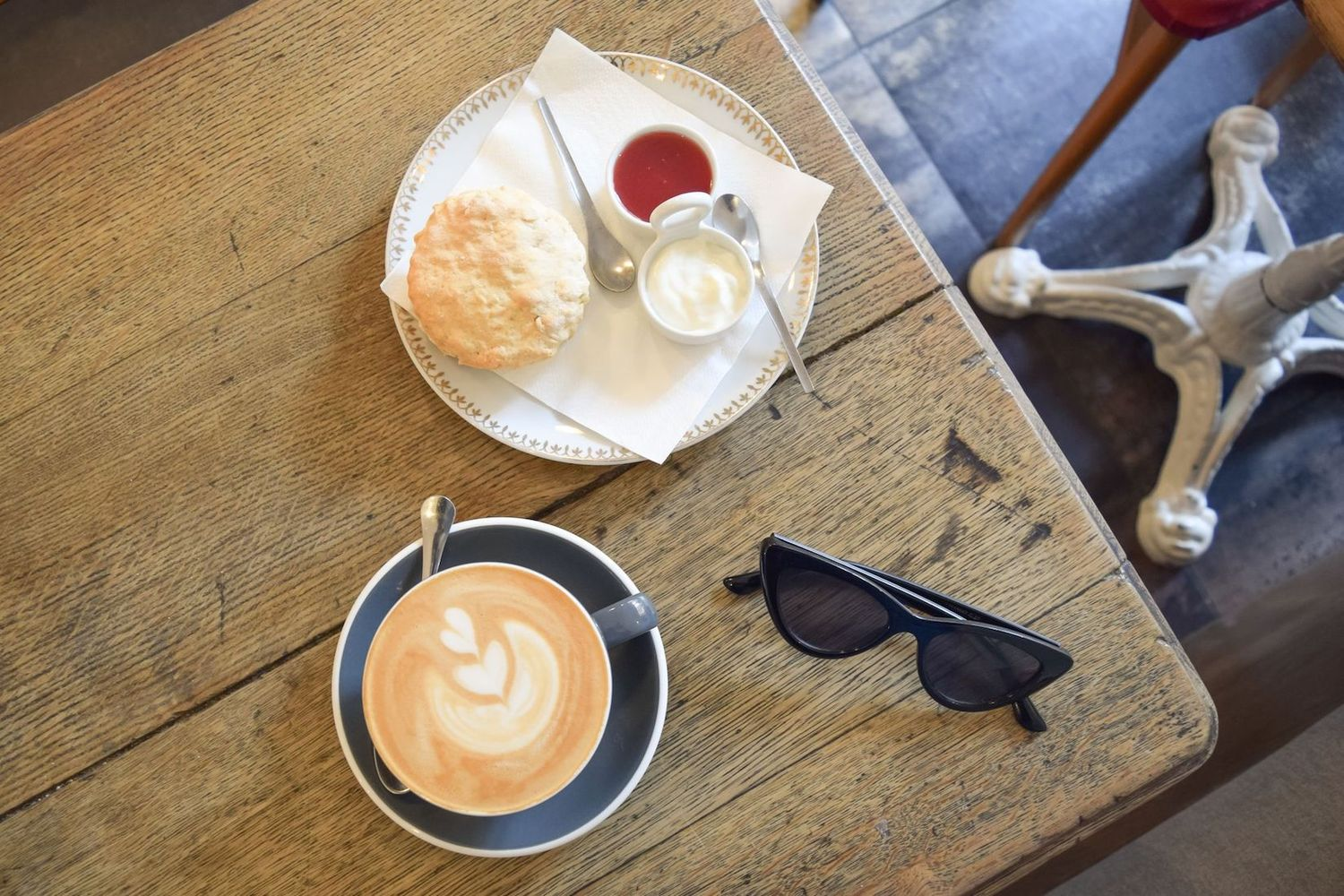 Specialty Coffee and Scone at Numero 220 Café, Paris