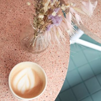 Latte at Peonies, Paris