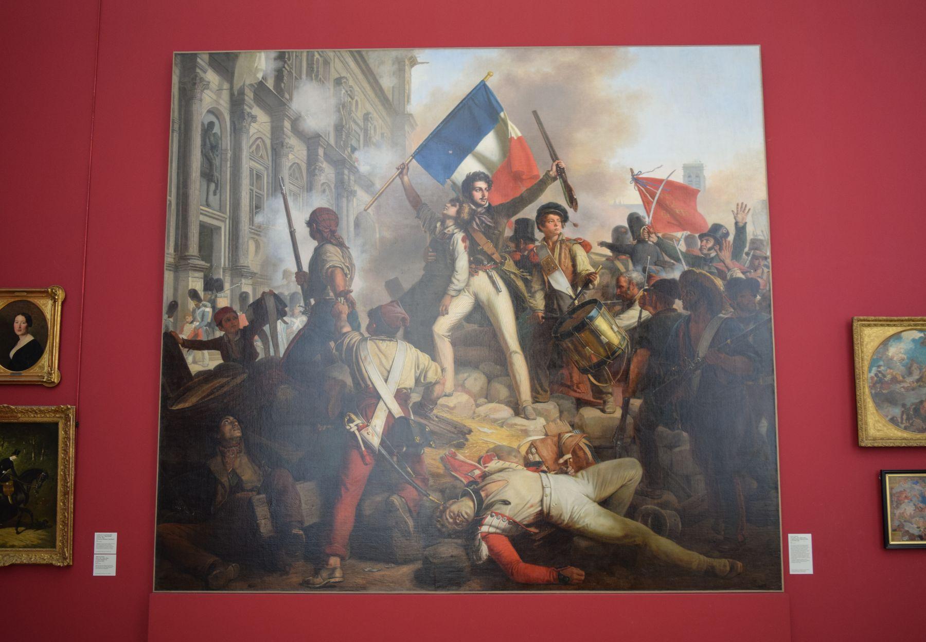 Combat devant l'Hotel de Ville, le 28 juillet 1830, by Victor Schnetz, Petit Palais, Paris