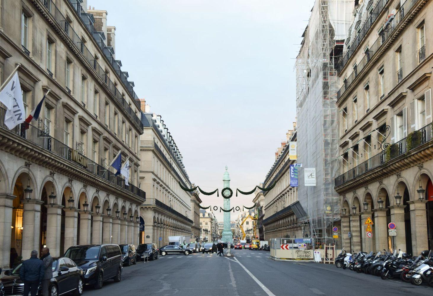 View of Place Vendome from Rue De Rivoli, Paris, France