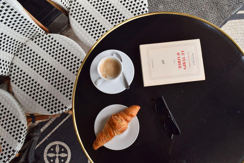 Coffee and Croissant on Rue De Rivoli, Paris, France