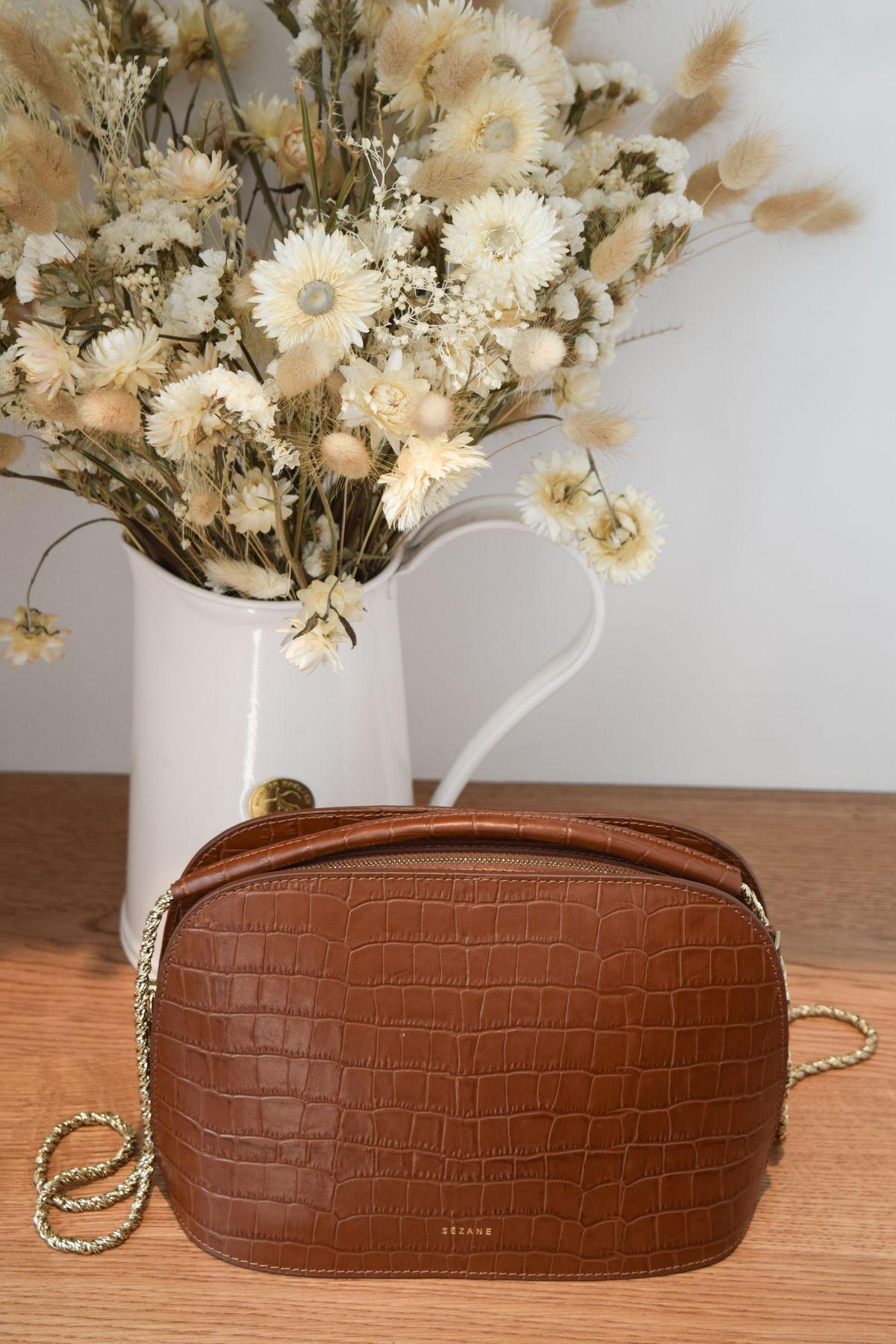 Sézane Fall Leather Bag