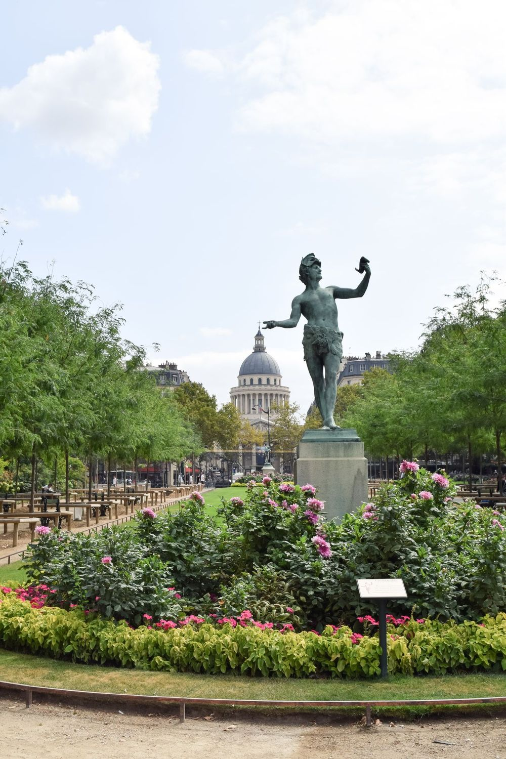 View Of The Pantheon From The Jardin Du Luxembourg, Paris