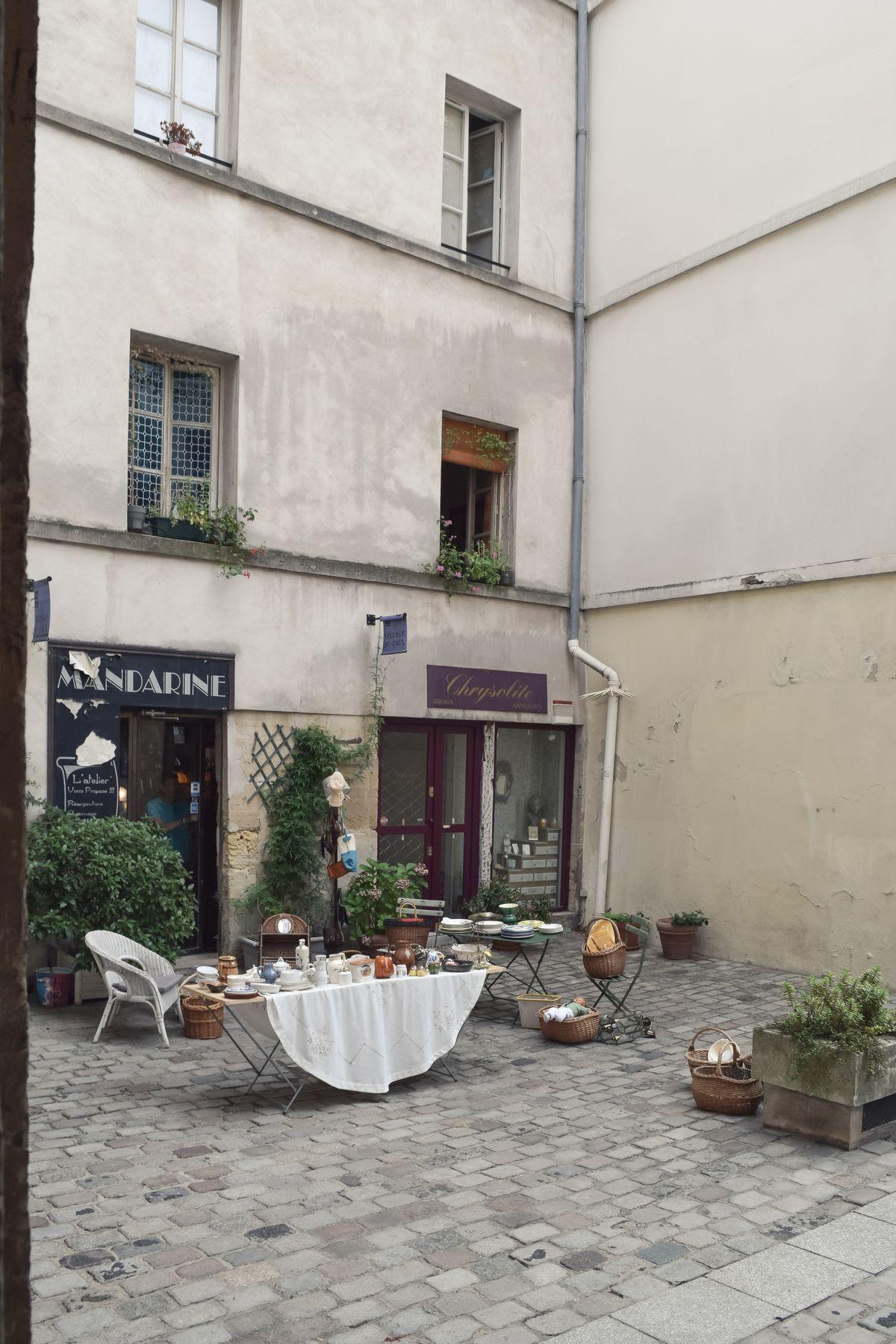 Antique Shop at the Village Saint Paul, Marais, Paris, France