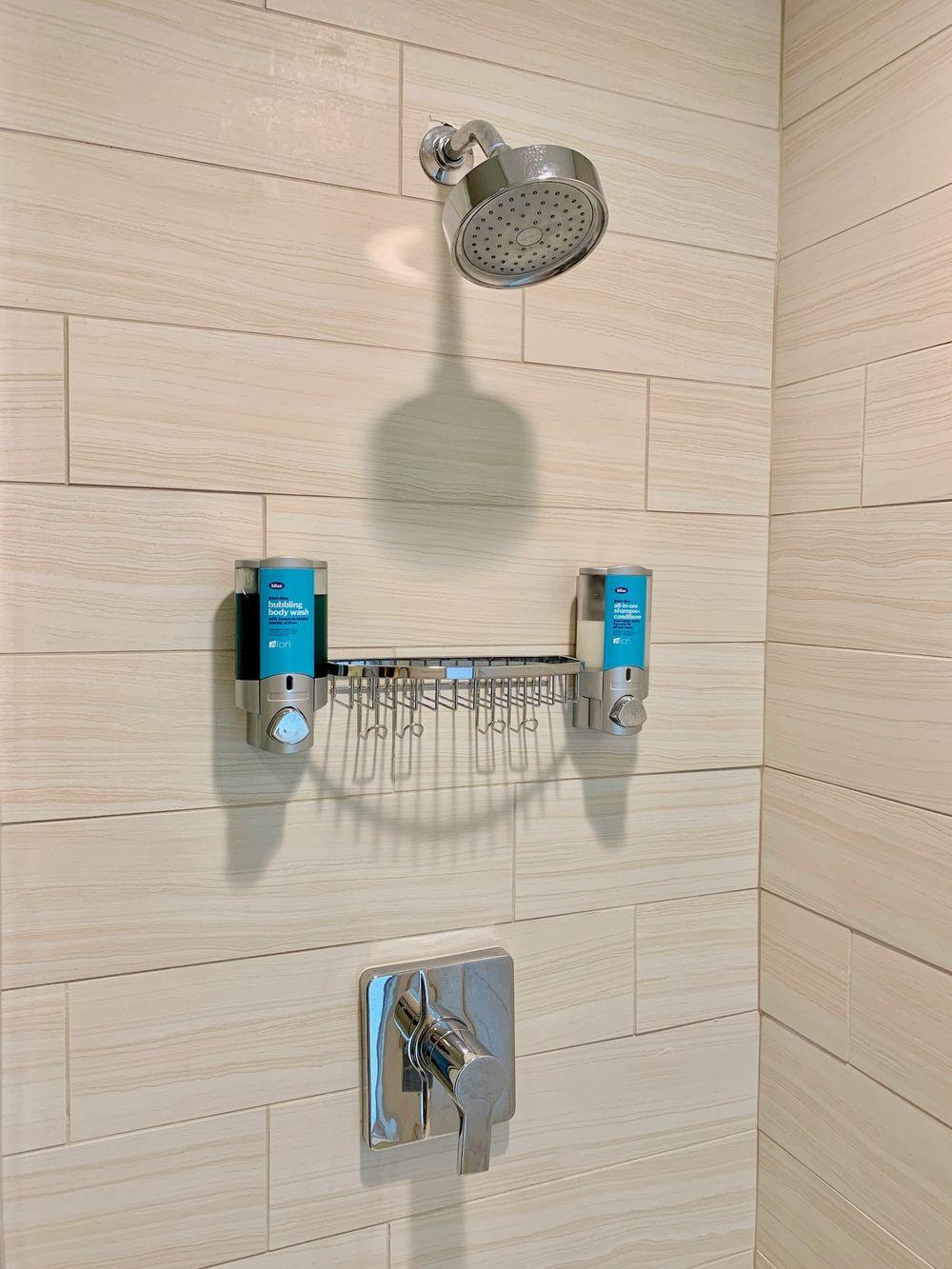 Shower at the Corpus Christi Aloft Hotel