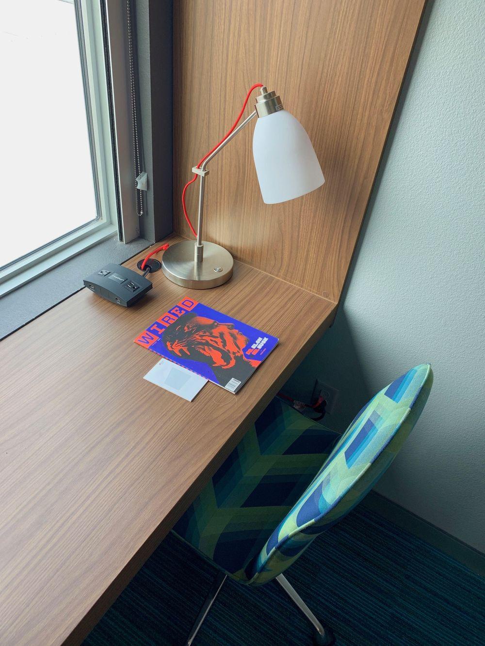 Working desk at the Corpus Christi Aloft Hotel