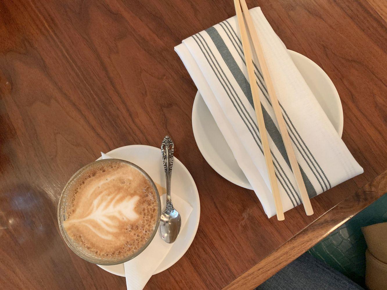 Latte at Elizabeth Street Cafe, Austin