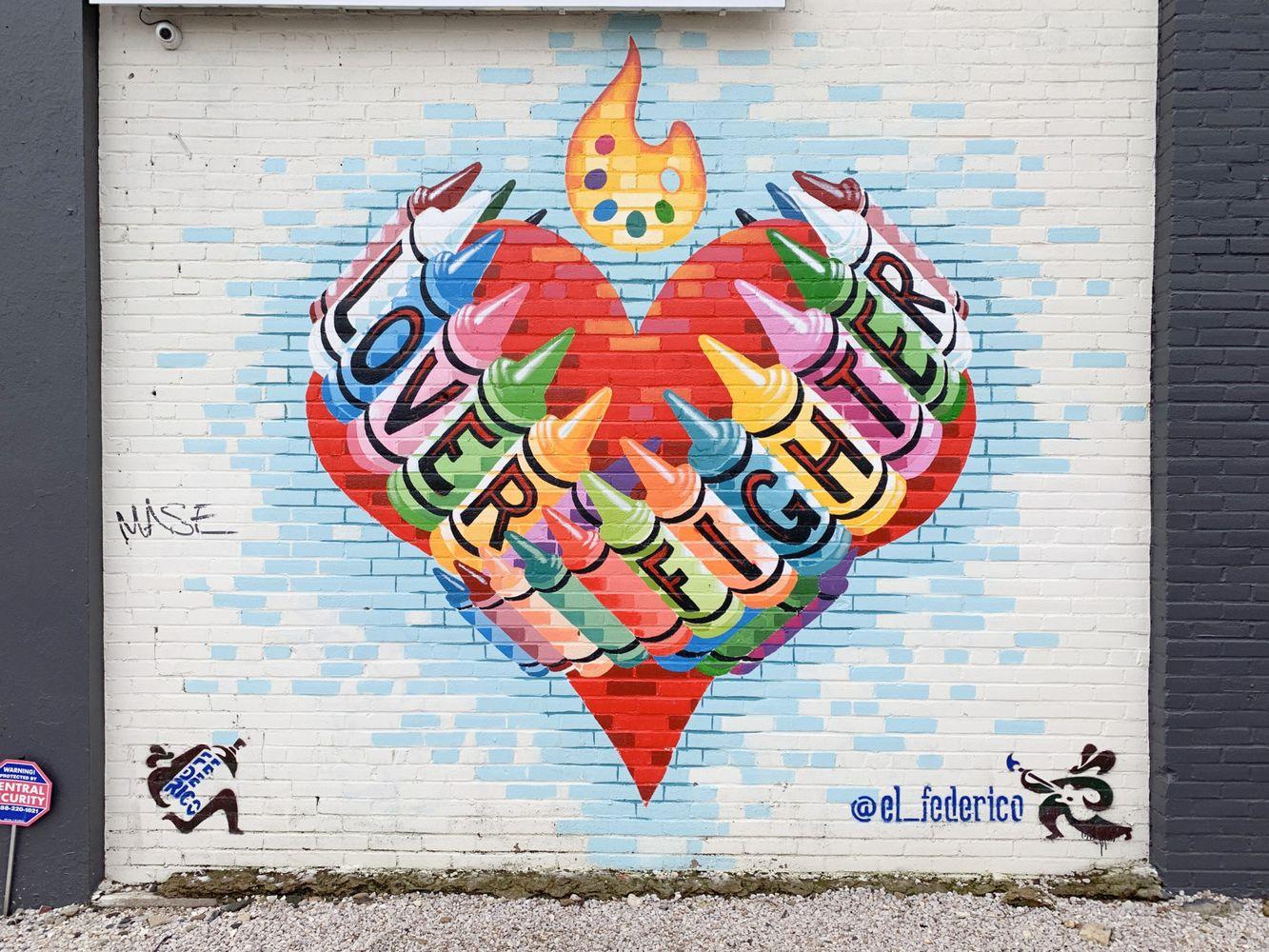 Lover Fighter Austin Murals