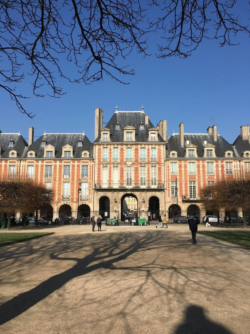 Place Des Vosges During Winter in Paris