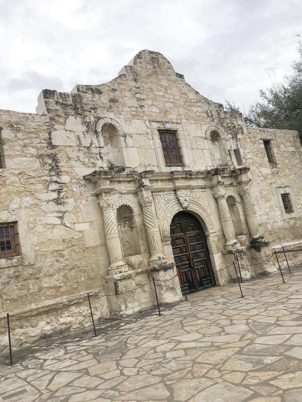 The Alamo in February, San Antonio, Texas