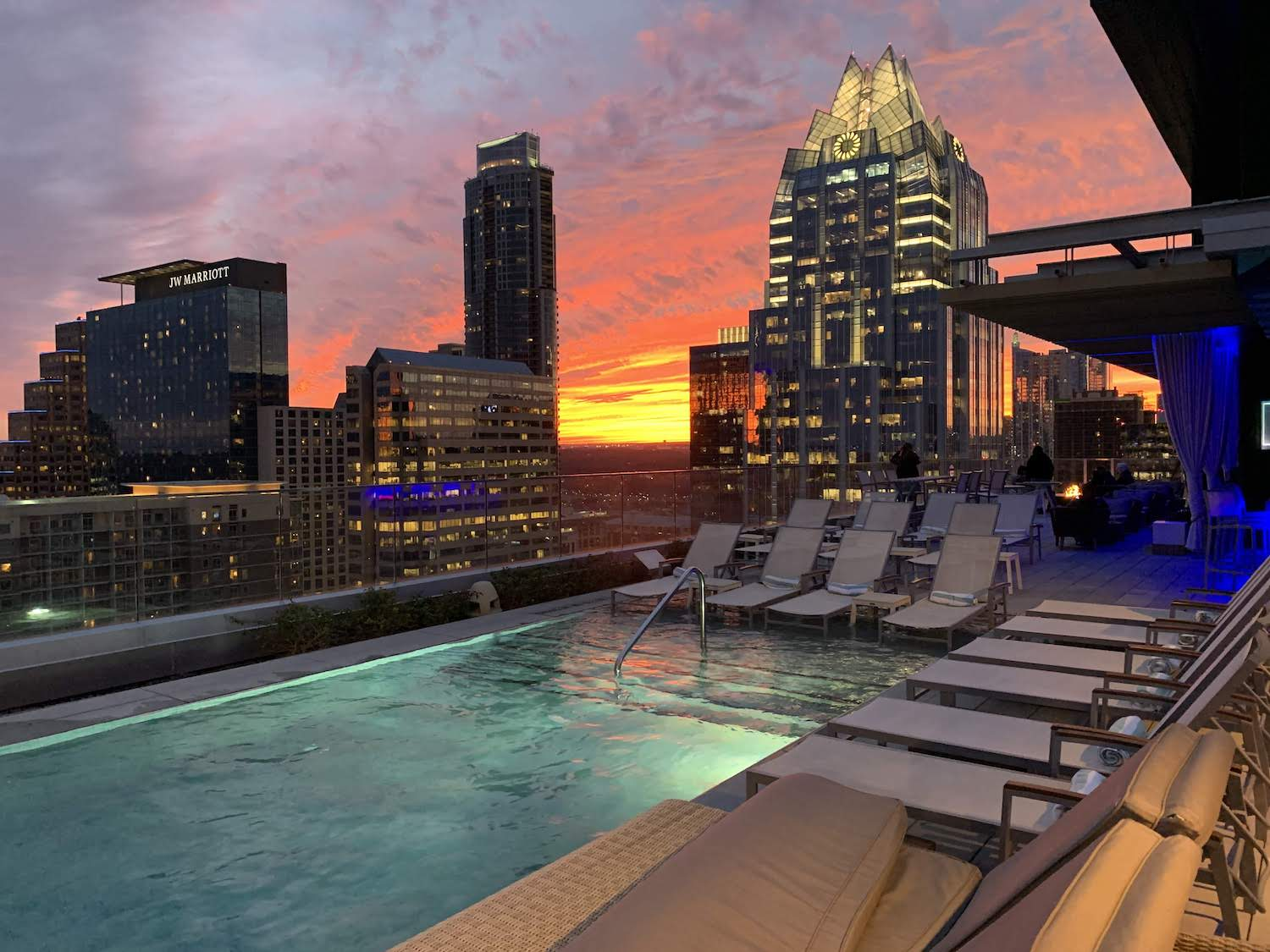 Where to Stay in Austin – Westin Austin Downtown Hotel Rooftop Pool, Austin Hotels with Pools