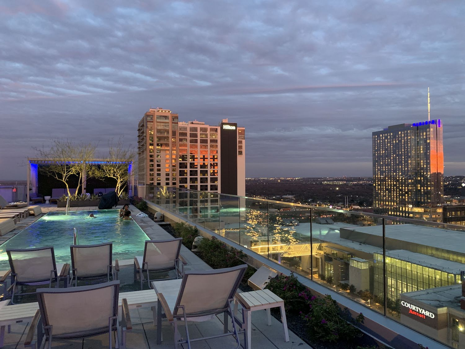 Westin Austin Downtown Hotel Rooftop Pool and View