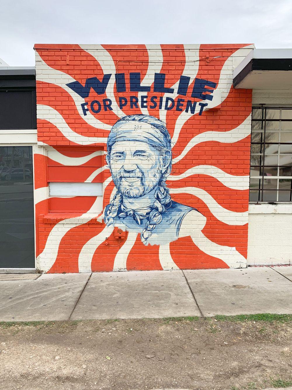 Willie For President Austin Murals