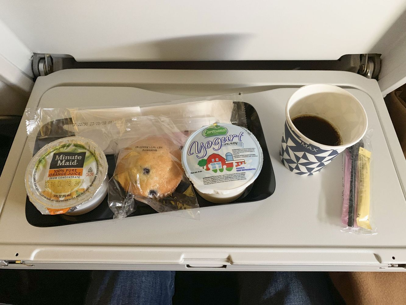 Air France Premium Economy Breakfast