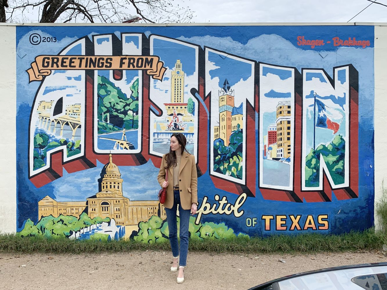 Greetings from Austin Mural in South Congress – Postcard mural in Austin