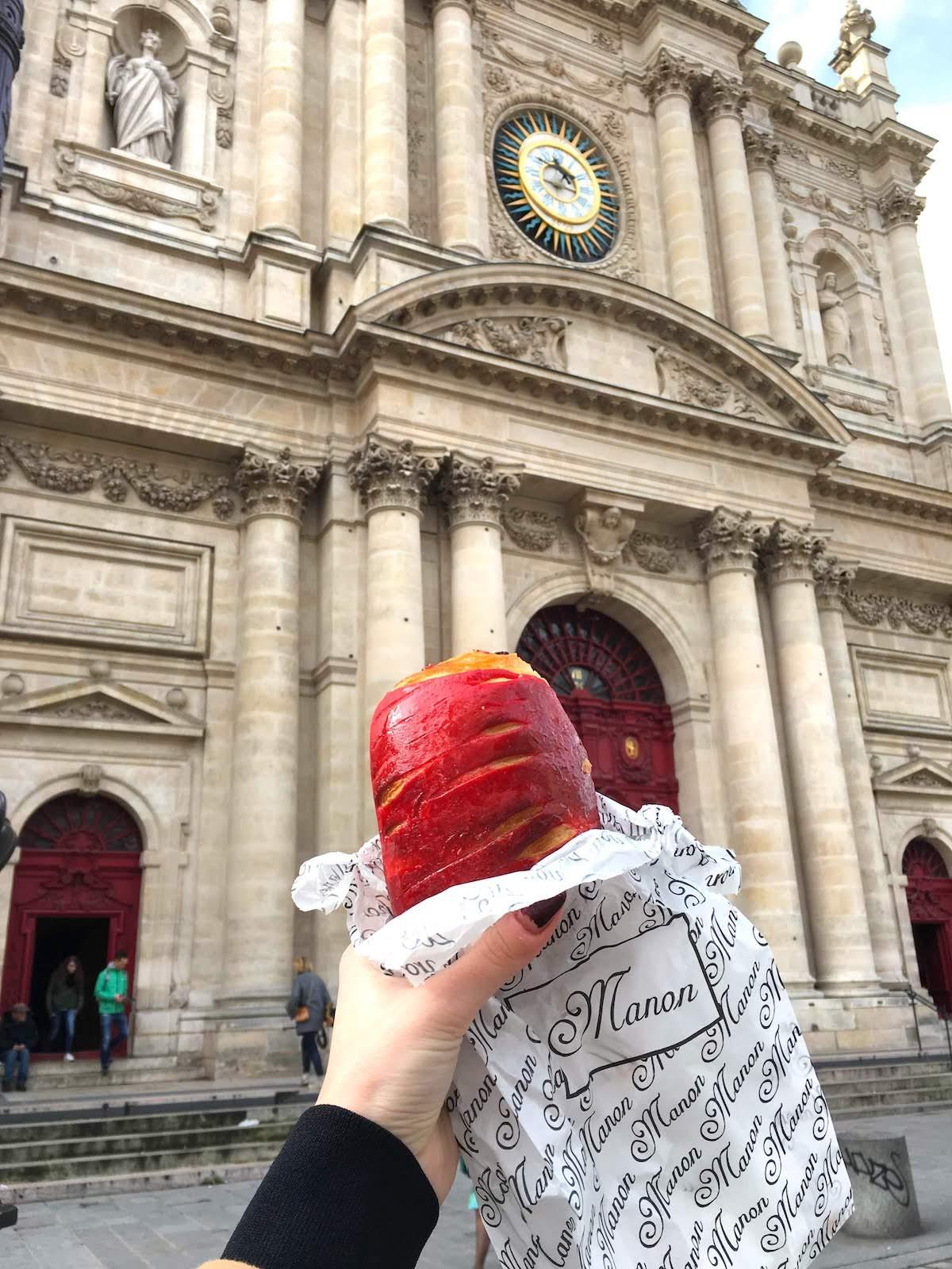 Raspberry croissant from Miss Manon Le Marais Boulangerie