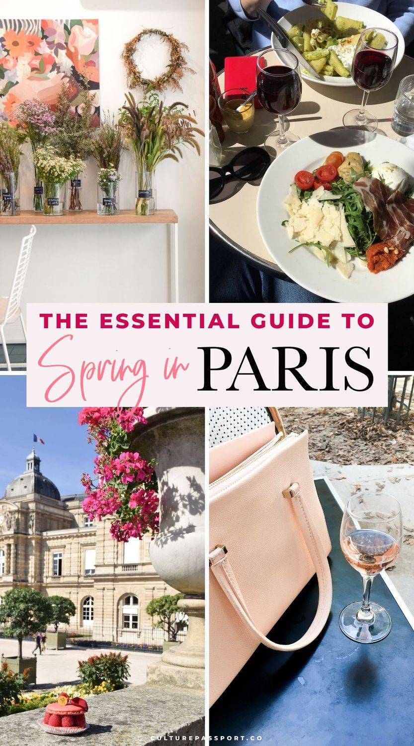 The Essential Guide to Spring in Paris! Everything you need to know before visiting Paris in spring. #parisguide #paristips #springtravel