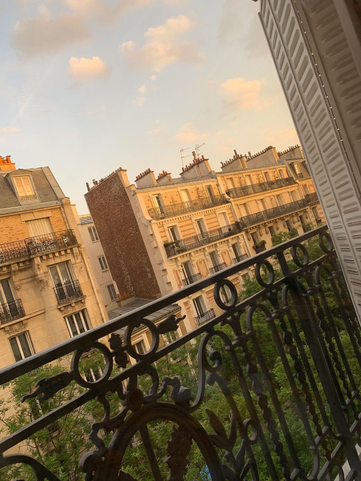 Golden hour from my balcony in Paris