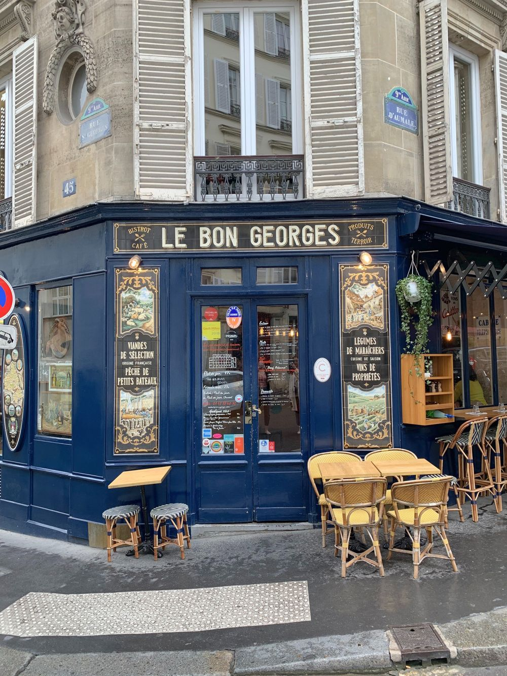Le bon Georges, Saint Georges, Paris, France