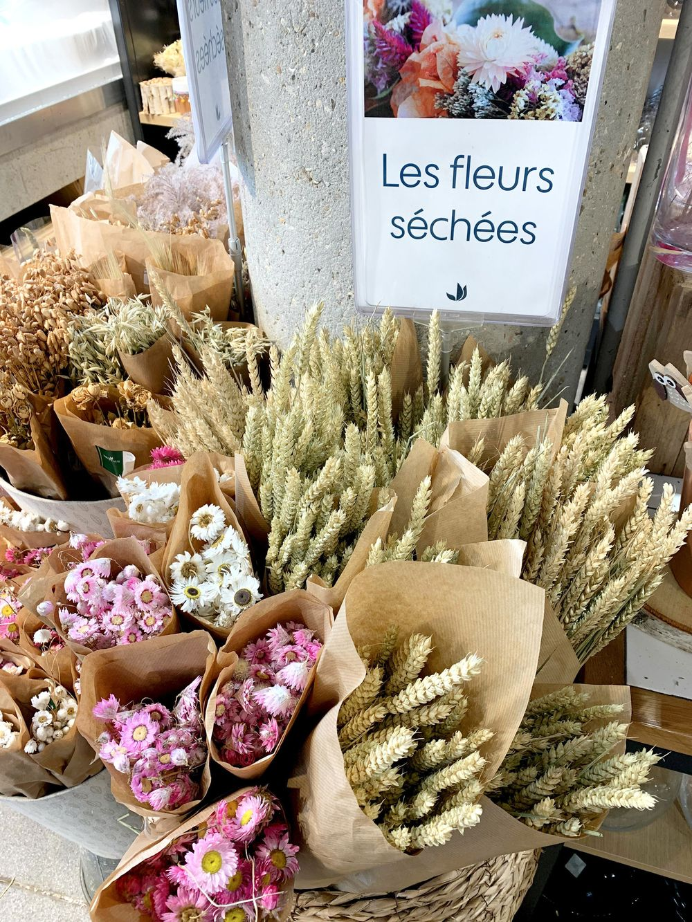 Jardinerie Truffaut - Dried Flowers In Paris