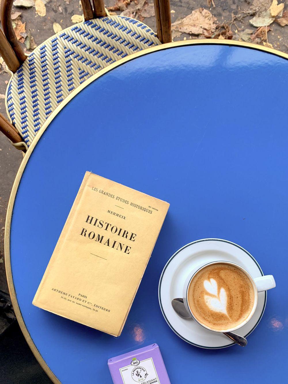 Cappuccino at La Fontaine De Belleville Café, Paris, France
