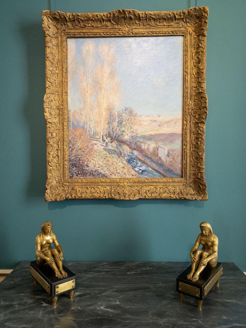Musee Marmottan Monet - 1891 Painting by Alfred Sisley called Ete de la Saint-Martin, Environs de More-sur-Loing